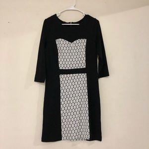 Kensie Black & White Dress Feminine and Soft